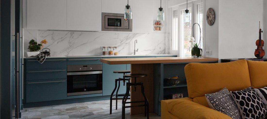 Vista general proyecto de reforma de apartamento en Leioa