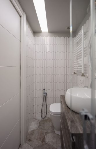 Baño proyecto reforma de apartamento en Leioa