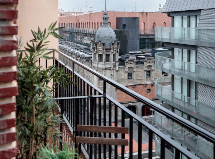 Balcón proyecto de reforma de vivienda antigua en el centro de Bilbao