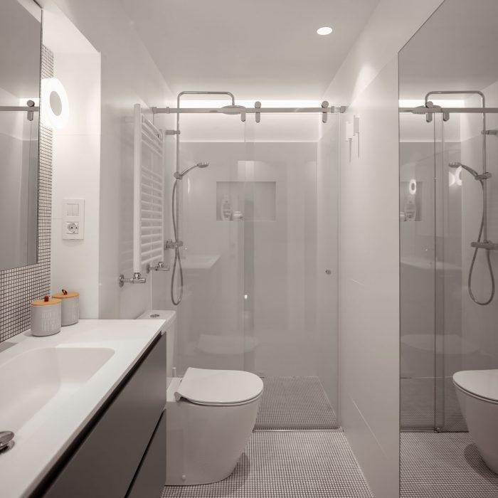 Baño reforma de vivienda en Santurtzi