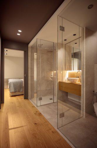 Detalle pasillo dormitorio reforma de vivienda en Santurtzi