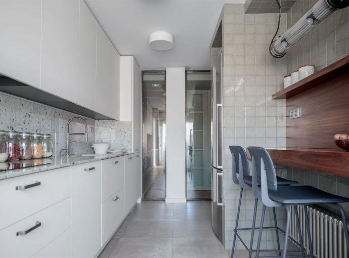 Cocina de reforma de vivienda en Santurtzi
