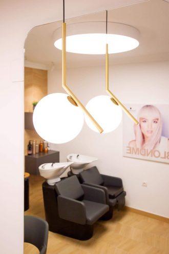 Iluminación proyecto de reforma local comercial peluquería Santurtzi