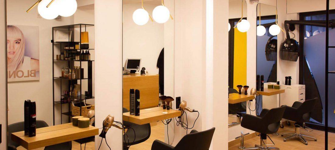 Espejos proyecto reforma de peluquería Santurtzi