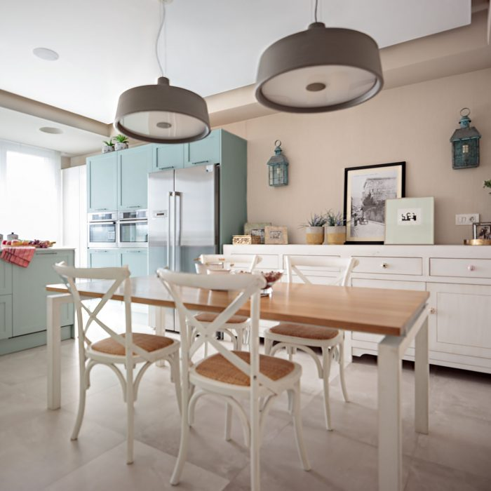 Mesa cocina reforma parcial obra nueva en Algorta