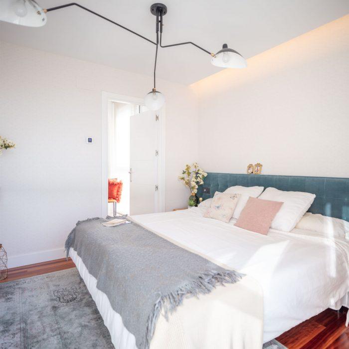 Dormitorio reforma parcial obra nueva en Algorta