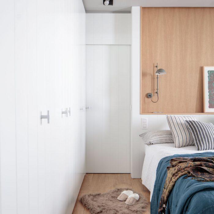 Armario dormitorio reforma de vivienda antigua en el centro de Bilbao