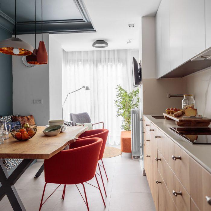 Cocina reforma de vivienda en Santa María de Getxo
