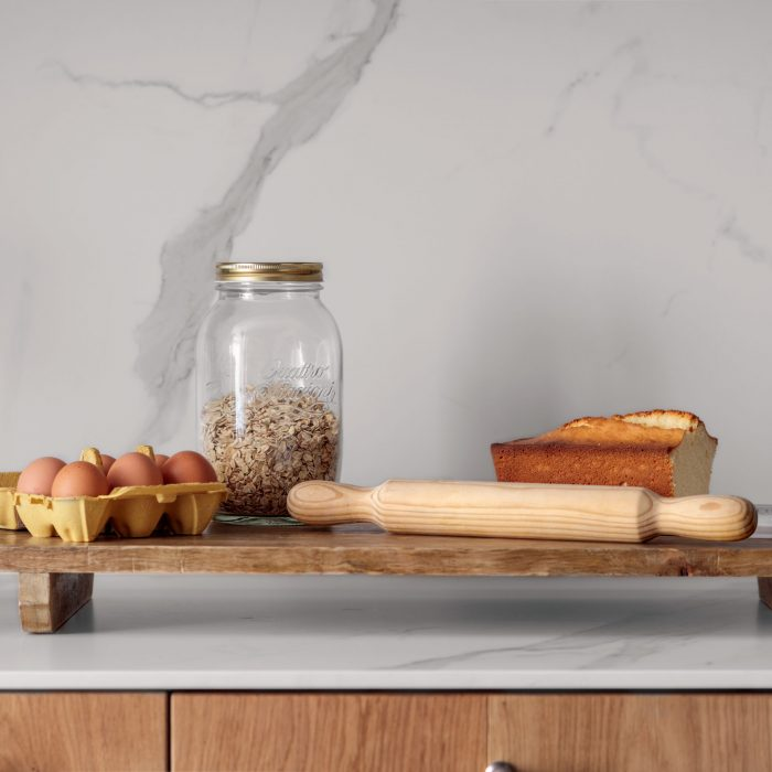 Detalle utensilios cocina reforma de vivienda en Santa María de Getxo