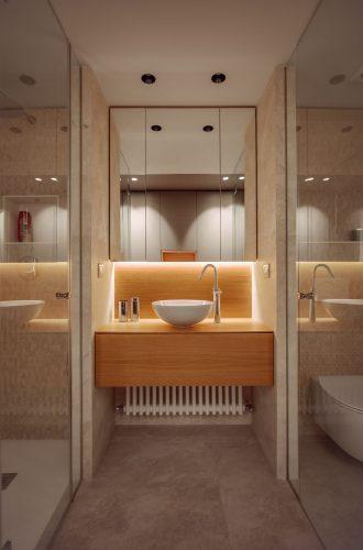 Iluminación baño reforma de vivienda en Santurtzi